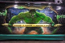"airbrush / project 2016 vw cabrio golf 3 ""The Hulk"""