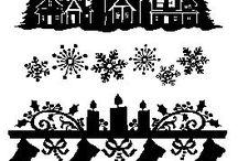 vianočné siluety