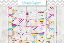 Digital Bunting / Here I share my Digital Bunting designs.