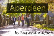 Aberdeen By Bus and On Foot / Great guides to getting to fantastic places and spaces in Aberdeen and the Shire on foot and by public transport.  Check of VisitAberdeen's handy new app, details on this board.
