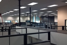 Konica Minolta Herman Miller install / Modern Modular sold, refurbished, delivered and installed these Herman Miller cubicles to Konica Minolta in Tempe, Arizona last year. These cubes have black laminate surfaces, gray fabric, glass stackers and black trim. Modern Modular can create this look for your office too at a great price.