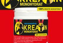 Kreatin monohydrat / Kreatin monohydrat. Ofarligt, lagligt, billigt kosttillskott för snabbare muskelstyka. Ökar prestationsförmågan vid alla sporter med upprepade repititioner - som styrketräning. Ej doping, ej förbjudet och helt ofarligt - det finns i vanlig mat.