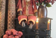 Christmas & Winter / Country Primitive Christmas and winter crafts & decorating ideas.