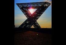 Saarpolygon / Denkmal  des Bergbaus im Saarland  Immer wieder ein tolles Fotomotiv  Ensdorf / Saarlouis / Saarland
