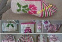 Тапочки и носки и следки