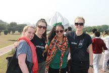 Volunteers on Delhi Tour / Our volunteers made most from their #Delhi tour by visiting famous monuments like Qutub Minar, Humayun's Tomb, Lotus Temple and also got a pinch of Indian culture by getting traditional Mehendi tattooed on their hands.  http://www.volunteeringindia.com/volunteer-delhi.html