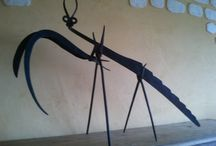 Eric Decomis / Sculptures Animals Tools