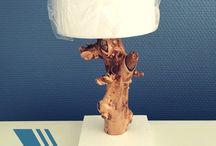 Tuto bois flotté / Tutoriels pour réaliser soi-même lampes et éléments décoratifs en bois.