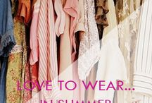 Love to wear in summer.... / Summer accessories and clothing inspiration...