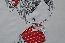 dibujo para camiseta de niña
