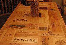 Dřevěné stoly a prkýnka