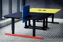 Bulo Collections_grID / grID is a flexible and modular furniture system, both suitable for teamwork or individual werk areas, seated or standing. The architectual language is inspired on the rigid design of the Dutch 'De Stijl' movement.