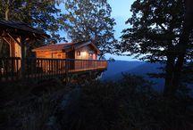 Treehouses / glamping, glamping resorts, clamping ideas, treehouse, treehouse for adults, camping