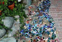 Mosaico di un giardino