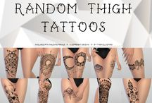 The Sims 4 tattoos