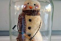 snømann i glass