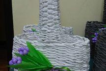 Pletení z papíru návody velikonoce