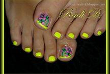 decoración de uñas en pies