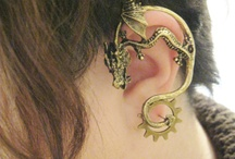 Dragon Brass Ear Wrap