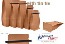 Flat Bottom Bags with tin tie