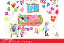 23 NİSAN RESİM YARIŞMASI / Zivella Ailesinin yavruları bizler için eserlerini sergilediler.
