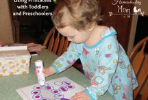 Mommy's Preschool / Ideas for keeping school alive at home with toddlers and kids - learning at home!