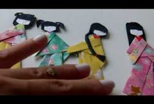 Бумажные куколки в кимоно