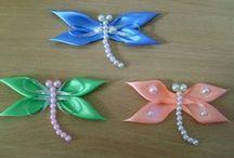 Farfalle libellule e uccellini