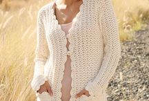 Crochet long jacket