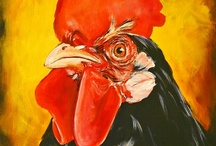 Roosters / graphics / by Jamye Donson