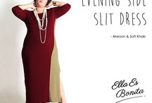 2015 - Evening Side Slit Dress / Dress which specially designed for sophisticated curvy women originally made by Indonesian Designer & Local Brand: Ella Es Bonita.
