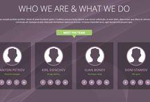 ! our team - webdesign block