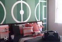Boy teenage bedroom