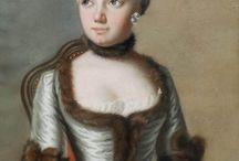 XVIII robe avec fourrure / suknie obszute futrem