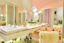 Delicadeza e sofisticação no banheiro da bailarina!