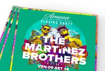"""Artwork """"The Martinez Brothers"""" / Artwork for the closing party """"Armonie"""" with The Martinez Brothers"""