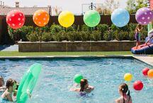 Summertime Pool Beach Party Ideas / Balloon Decorations