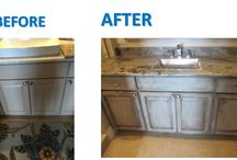 Faux Finishes on Cabinets / Faux Finishes on Kitchen & Bathroom Cabinets