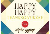 Holidays - Alpha Gypsy  / Happy Thanksgivukka! From Alpha Gypsy www.alphagypsy.com