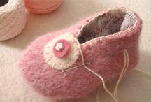 scarpe in feltro bucce in feltro