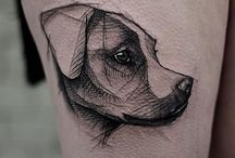 tattoo dog-animals
