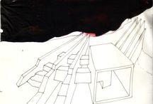 Di_segni a china &...di BDB / Disegni, progetti, divagazioni architettoniche by Brunetto De Batté