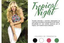 Tropical Night / Siluetas atrevidas y coloridos estampados se unen para aumentar la temperatura del verano. Envuélvete en una exótica aventura por el trópico, con nuestra nueva colección: Tropical night