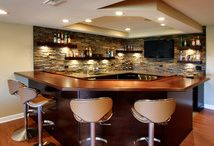Basement Bar | St. Charles / Basement Renovation in St. Charles, IL home. Includes a full-service custom bar, office, and lounge.