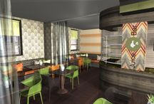 African Influence / A client's brief is for an Afro Caribbean tasteful theme for a restaurant. Here are some wallpapers and fabrics that may suit.