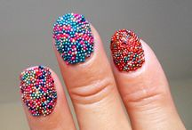 Caviar nails / Caviar turquoise summer nails