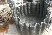 полотенца в цементе