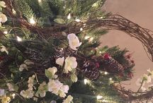 Christmas / Christmas decorating, Christmas trees, winter decor with rustic contemporary and shabby chic glam.