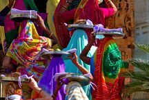 India beautiful colors.