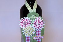 Wine bottle tags / Stampin'Up!